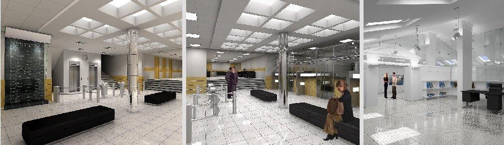 Интерьер вестибюля Москомархитектуры
